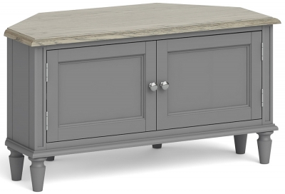 Global Home Marseille Grey Painted Corner TV Unit