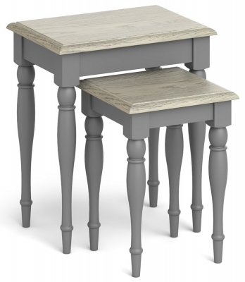 Global Home Marseille Grey Painted Nest of Table