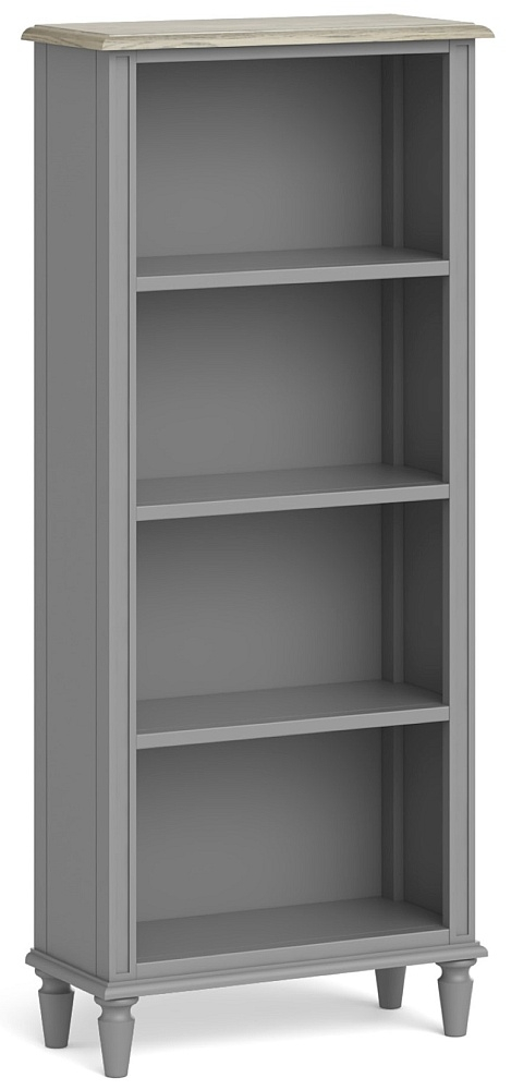 Global Home Marseille Grey Painted Slim Bookcase