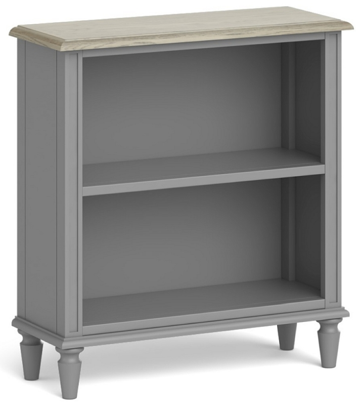 Global Home Marseille Grey Painted Low Bookcase