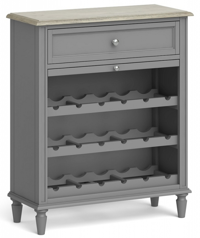 Global Home Marseille Grey Painted Wine Unit