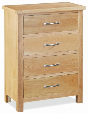 Global Home New Trinity Oak 4 Drawer Chest