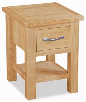 Global Home New Trinity Oak 1 Drawer Lamp Table