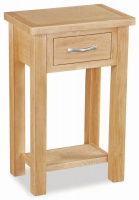 Global Home New Trinity Oak 1 Drawer Telephone Table