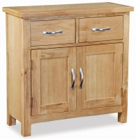 Global Home New Trinity Oak 2 Door 2 Drawer Mini Sideboard