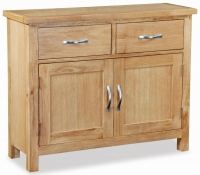 Global Home New Trinity Oak 2 Door 2 Drawer Narrow Sideboard