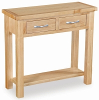 Global Home New Trinity Oak 2 Drawer Console Table