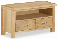 Global Home New Trinity Oak 2 Drawer Media Stand