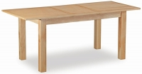 Global Home New Trinity Oak Rectangular Extending Dining Table - 120cm-165cm