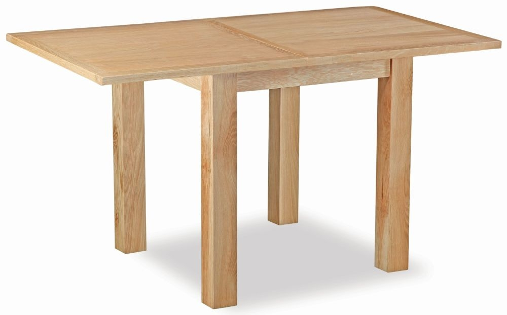 Global Home New Trinity Oak Small Extending Dining Table