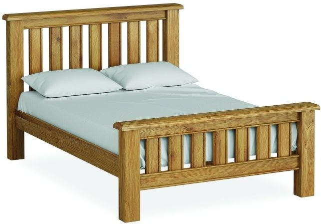 Global Home Odyssey Oak High Foot End Bed