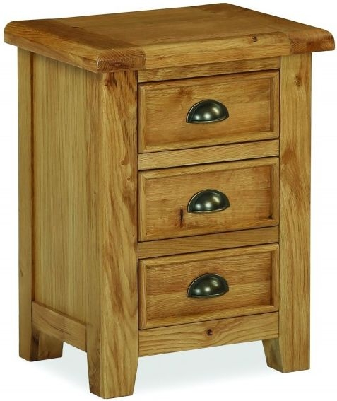 Global Home Odyssey Oak Bedside Cabinet - 3 Drawer