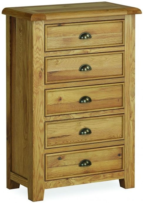 Global Home Odyssey Oak 5 Drawer Chest