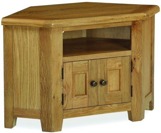 Global Home Odyssey Oak 2 Drawer Corner TV Unit