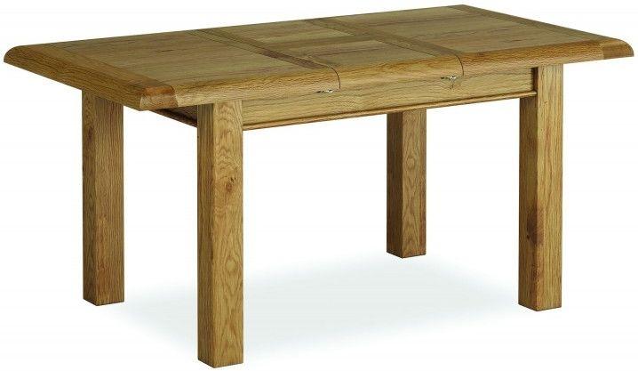 Global Home Odyssey Oak Dining Table - 120cm-165cm Compact Rectangular Extending
