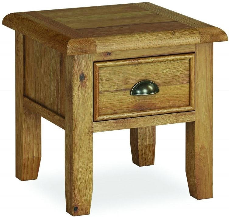 Global Home Odyssey Oak 1 Drawer Lamp Table