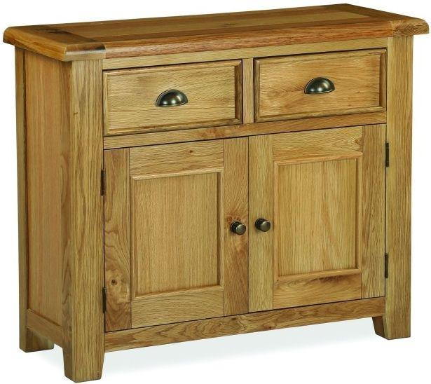 Global Home Odyssey Oak Sideboard - Small Narrow 2 Door 2 Drawer
