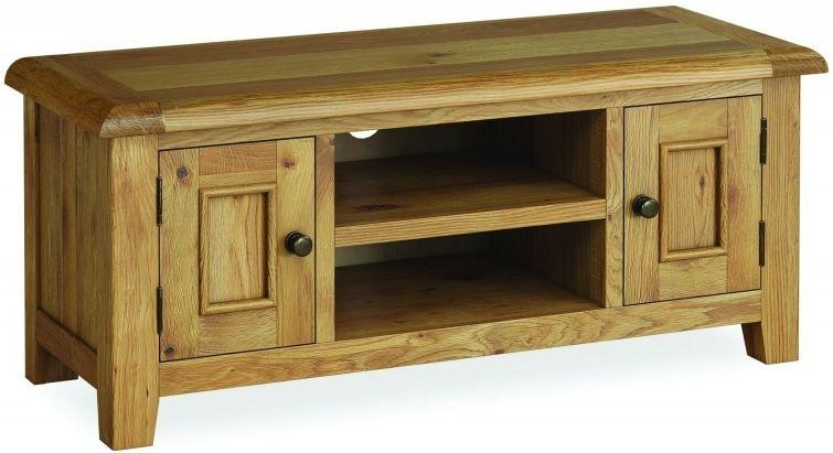 Global Home Odyssey Oak TV Unit - Large 2 Drawer