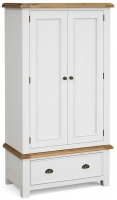 Global Home Odyssey Painted 2 Door 1 Drawer Double Wardrobe