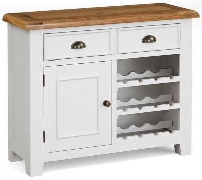 Global Home Odyssey Painted 1 Door 2 Drawer Wine Cabinet
