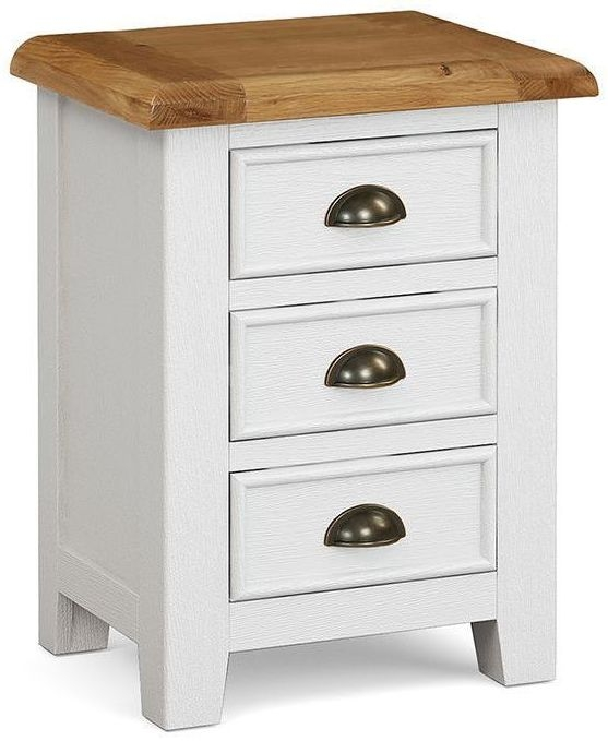 Global Home Odyssey Painted 3 Drawer Bedside Cabinet