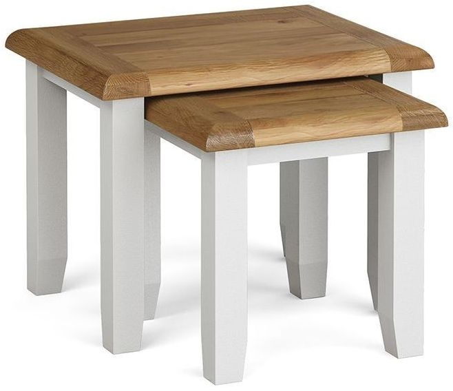 Global Home Odyssey Painted Nest of 2 Tables