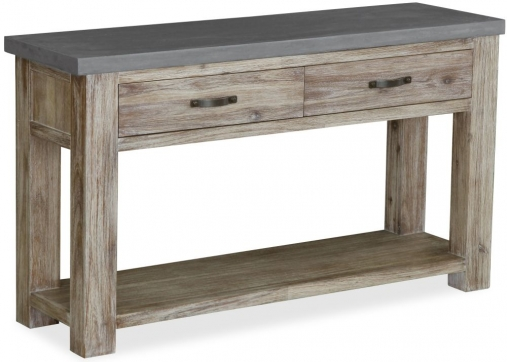 Global Home Rockhampton Oak 2 Drawer Console Table