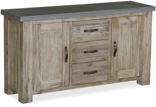 Global Home Rockhampton Oak 2 Door 3 Drawer Wide Sideboard