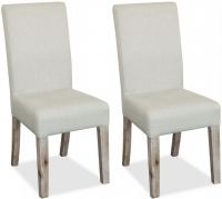 Global Home Rockhampton Oak Upholstered Dining Chair (Pair)