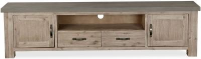 Global Home Rockhampton Oak and Clear Glaze Extra Large TV Unit