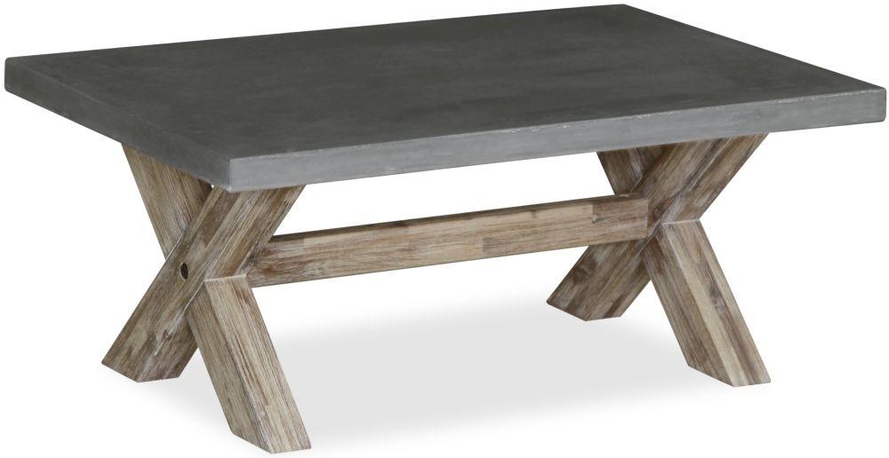 Global Home Rockhampton Coffee Table - Oak and Clear Glaze