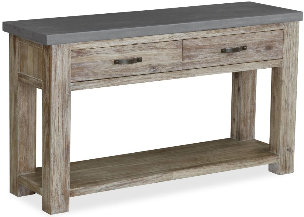 Global Home Rockhampton Oak Console Table with Drawer