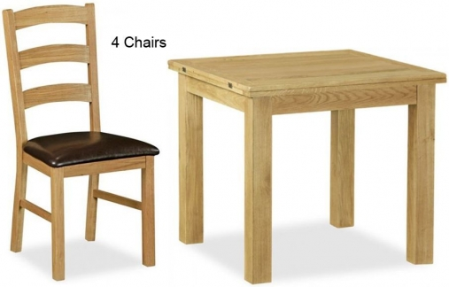 Buy Global Home Salisbury Lite Oak Dining Set Square  : 1 Global Home Salisbury Lite Oak Dining Set Square Extending with 4 Chairs from www.choicefurnituresuperstore.co.uk size 507 x 324 jpeg 84kB