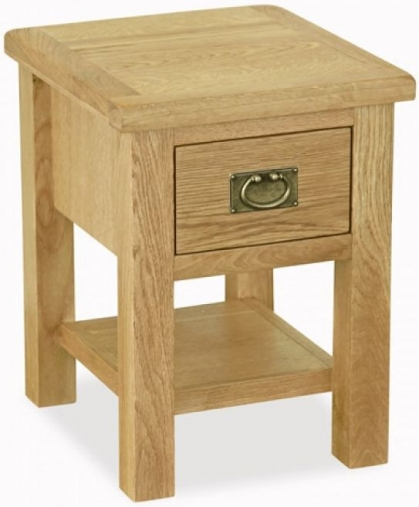 Buy Global Home Salisbury Lite Oak Lamp Table Online