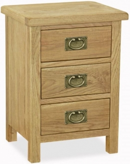 Global Home Salisbury Lite Oak Bedside Cabinet
