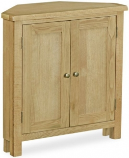 Global Home Salisbury Lite Oak Cupboard - Corner