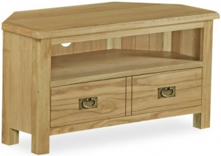 Global Home Salisbury Lite Oak TV Unit - Corner