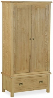 Global Home Salisbury Lite Oak Wardrobe - Gents