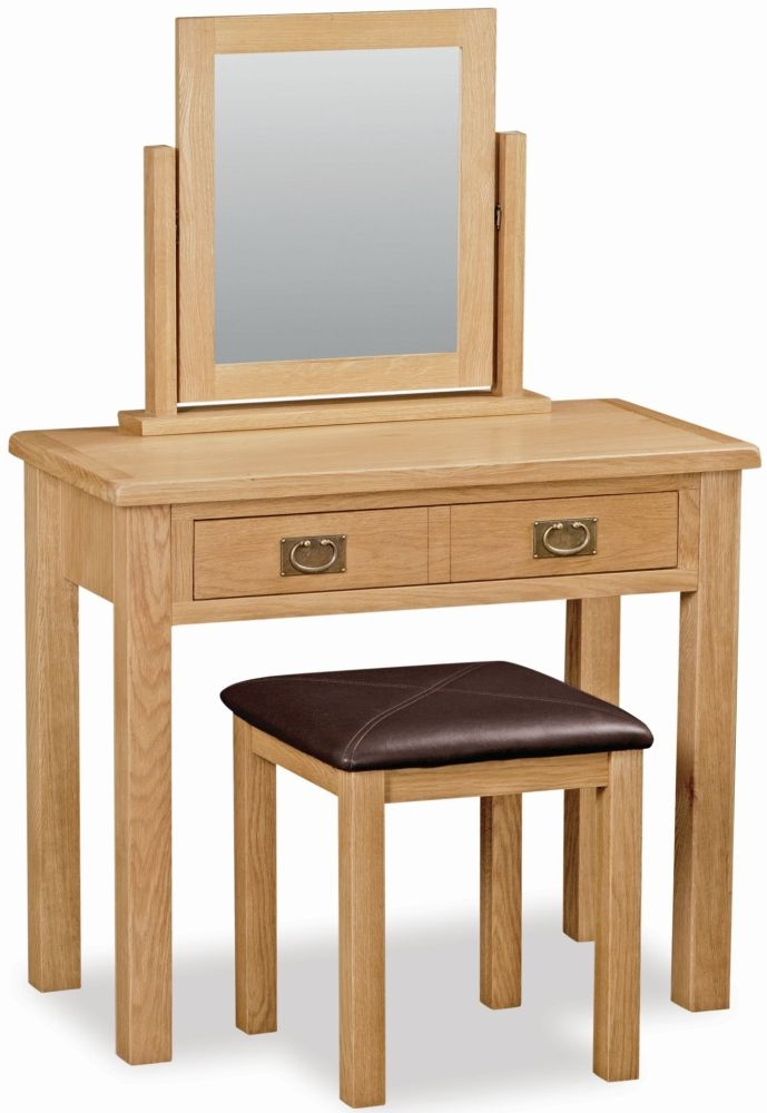 Salisbury Lite Oak Dressing Table Set