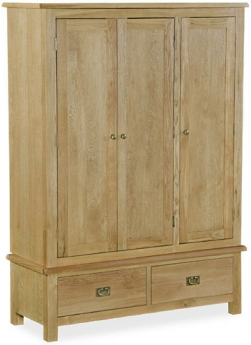 Global Home Salisbury Lite Oak Wardrobe - Triple