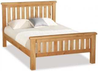Global Home Salisbury Oak Bed - Slatted