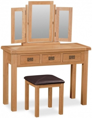 Salisbury Oak Wide Dressing Table