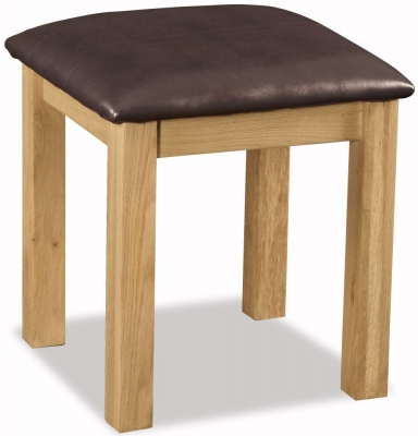 Buy Global Home Salisbury Oak Stool Online Cfs Uk
