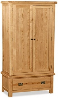 Global Home Salisbury Oak 2 Door 1 Drawer Wardrobe