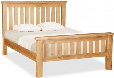 Salisbury Oak Slatted Bed