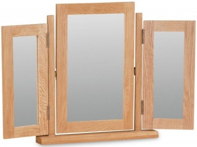 Salisbury Oak Triple Mirror