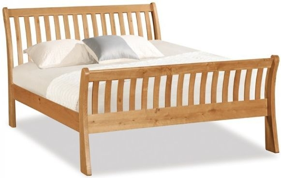 Global Home Salisbury Oak Bed - Sleigh