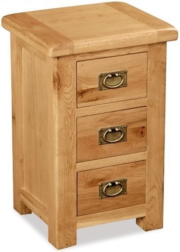 Global Home Salisbury Oak Bedside Cabinet - Wide