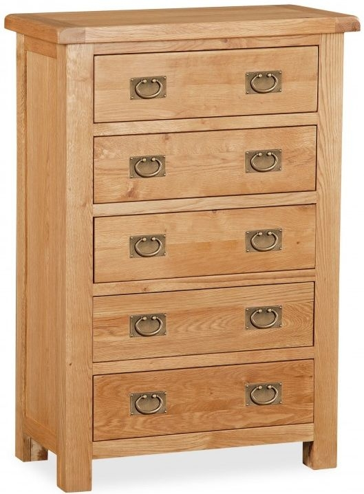 Global Home Salisbury Oak 5 Drawer Chest