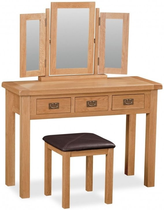 Global Home Salisbury Oak Dressing Table - Wide